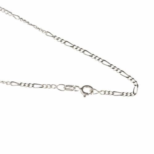 Cadena figaro de plata 925, 50cm s1