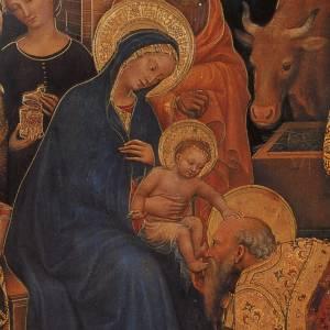 Cadre Adoration des Mages imprimé sur bois 49x68 s2