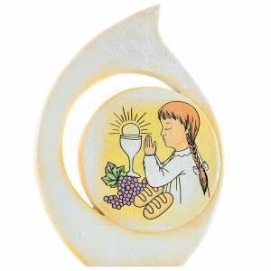 Bonbonnières: Cadre Communion goutte fille 11 cm