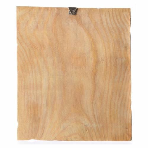 Cadre en bois impression Jésus en prière 25x20 cm s2