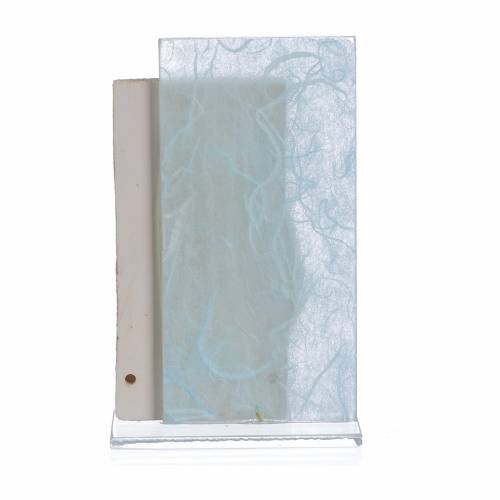 Cadre Maternité papier soie bleu clair h 11,5 cm s2