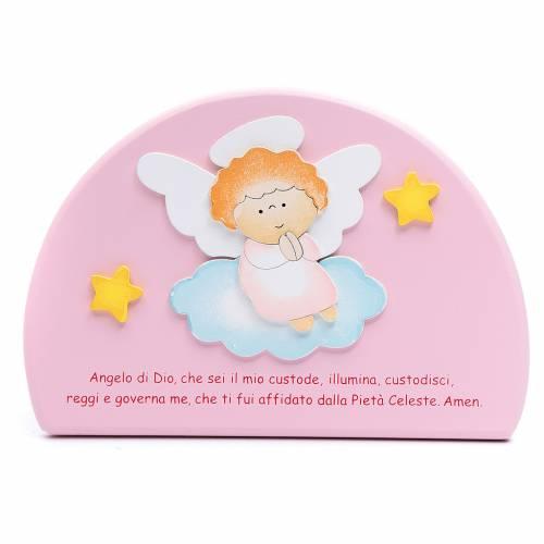 Cadre religieux Ange de Dieu demi cercle s2