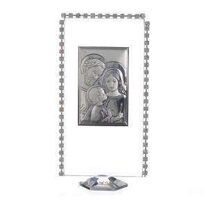 Bonbonnières: Cadre verticale Sainte Famille et strass 12x6 cm