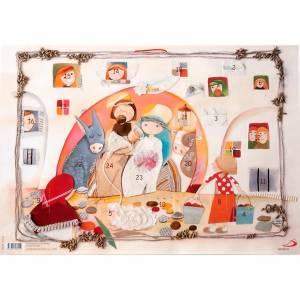 Calendriers et Livres religieux: Calendrier de l'Avent, collage ITALIEN