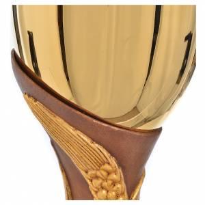 Calice doré laiton et bois Valgardena s5