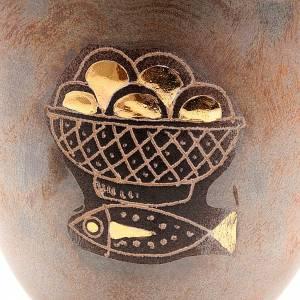 Caliz de cerámica pie redondo pan y pez s2