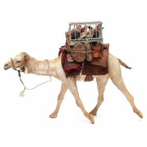 Camel with cages and hens 30cm Angela Tripi s2