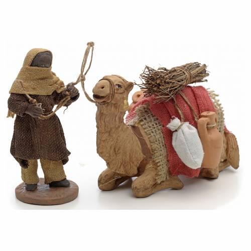 Camellero con camello 10 cm escena pesebre Napolitano s2