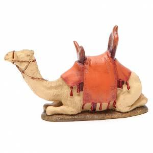 Animales para el pesebre: Camello sentado resina pintada para belén cm 10 Línea Landi