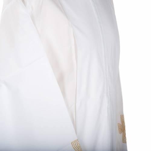 Camice bianco lana croce dorata s3