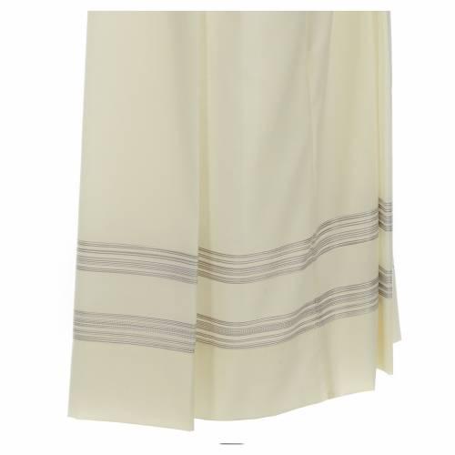 Camice lana e poliestere doppio ritorto stoffa ricamata s3