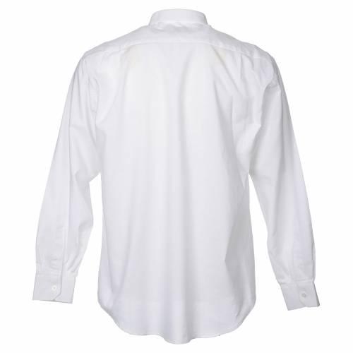 STOCK Camicia clergy manica lunga misto bianca s2