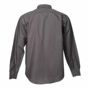 Camisas Clergyman: Camisa clergy de popelina manga larga gris oscuro