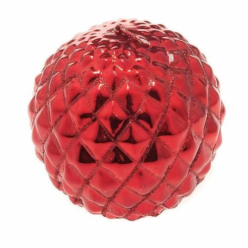 Candela rossa di Natale a sfera s1