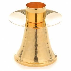 Candelieri metallo: Candeliere bossolo 4 cm martellato