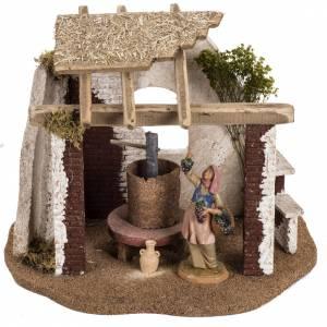 Ambientazioni, botteghe, case, pozzi: Cantina presepe Fontanini per villaggio cm 12