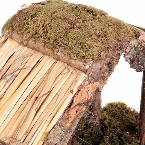 Capanna presepio legno sughero muschio 35X20X24 4