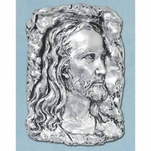 Capoletto Volto di Cristo metallo argentato s1