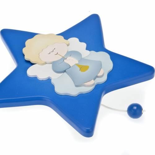 Carillon étoile avec petit ange gardien s3