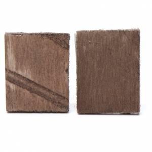Carreaux en miniature pour crèche 2 pcs 4x3,5cm s2