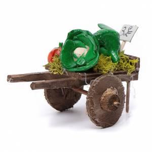 Presepe Napoletano: Carro napoletano presepe frutta ortaggi terracotta 5,5x7,5x5,5 c