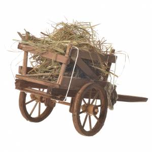 Cart with hay, Neapolitan nativity 18x6cm s3