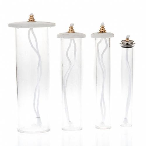 Cartucce cera liquida in plexiglass per candele s3