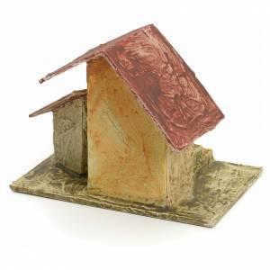 Casa con escalera madera estucado para belén 11x10x7 s3