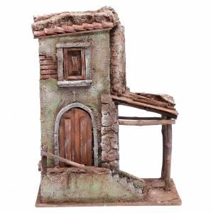 Ambientazioni, botteghe, case, pozzi: Casa con scalette 35x25x15 cm