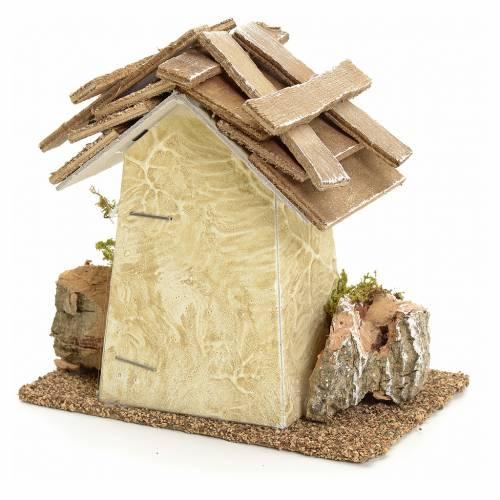 Casa rustica con rocce 11x11x6 presepe s2