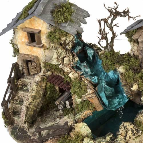 Cascada entre las casas: ambientación pesebre s3