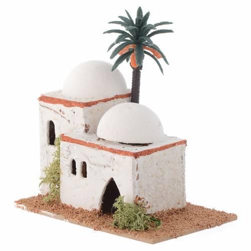 Casetta araba con palma mod. assortiti 12x7xh. 13 cm s2