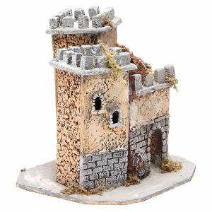 Castle for Neapolitan nativity scene in cork 20x22x20cm s3