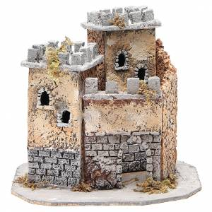 Castle for Neapolitan nativity scene in cork 20x22x20cm s1