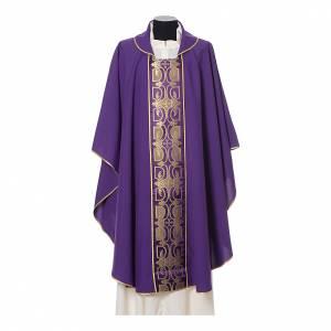 Casula con stolone fronte tessuto Vatican 100% poliestere s7