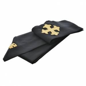 Casula nera 100% poliestere croce stilizzata s3