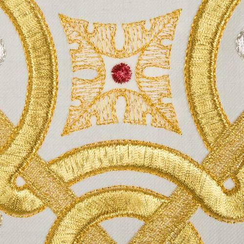 Casula liturgica con stola colombe acquasantiera s3