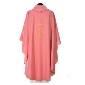 Casula rosa poliestere croce sottile spighe lanterna s3