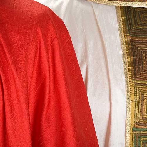 Casula sacerdotale seta 100% ricamo quadri s7