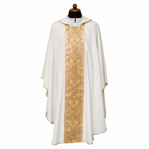 Casula stolone davanti tessuto Vatican 100% poliestere s2