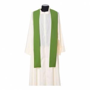 Casula tessuto super leggero Vatican poliestere ricamo croce davanti dietro s8