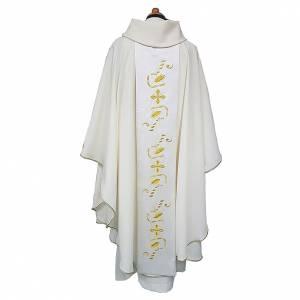 Casula tessuto Vatican leggero pol. stolone raso di cotone davanti dietro s2