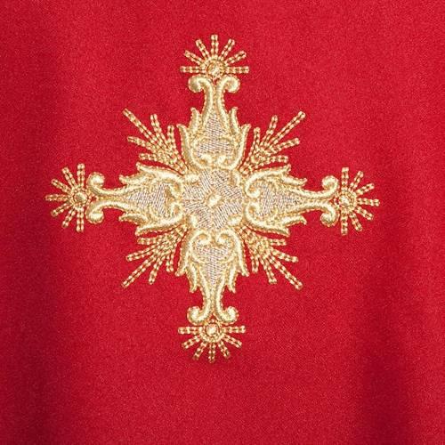 Casulla litúrgica con estola cruz s4