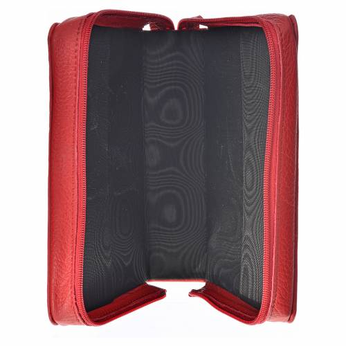 Catholic Bible cover in red leather s3