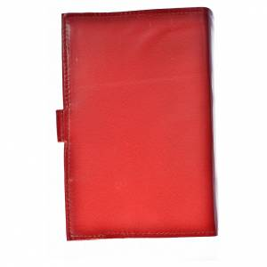 Catholic Bible cover red genuine leather Christ Pantocrator s2