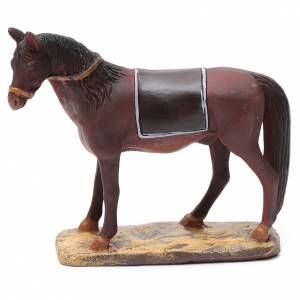 Animali presepe: Cavallo in resina per presepe 10 cm Linea Martino Landi