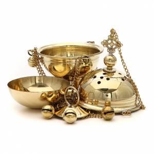 Censer in brass Bethlehem monks 23cm s4