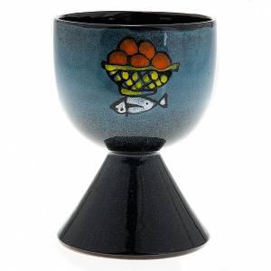 Ceramics Chalices Ciborium and Patens: Ceramic chalice with conical base
