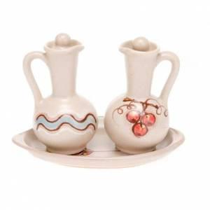 Ceramic round cruet set s4
