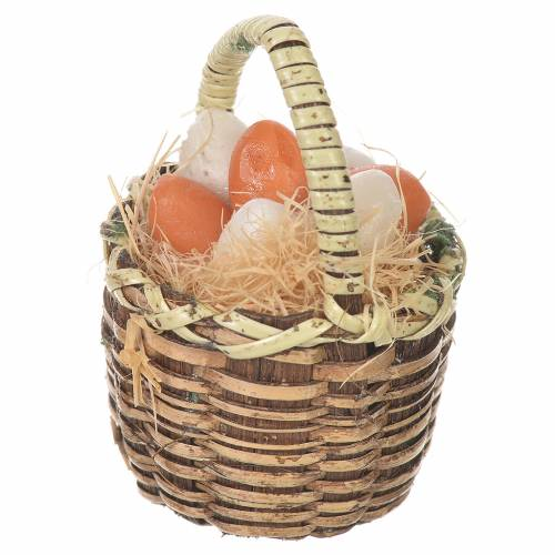 Cestino uova in cera per figure presepe 20-24 cm s2